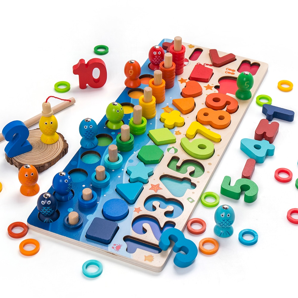 Kids Toys Montessori Educational Wooden Toys Geometric Shape Cognition Puzzle Toys Math Toys Early Educational Toys for Children topological game tower of hanoi iq intelligence developer 3d puzzle natural wood math game montessori montessori toys children s toys educational toys children toys montessori toys for children fidget toys