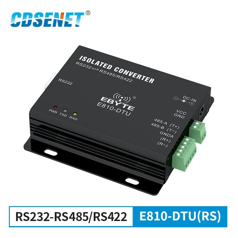 usr tcp232 306 free shipping supports tcp client short connection function supports rs232 rs485 rs422 port 5 36v dc RS232 to RS485/RS422 Isolated Bidirectional Converter 1.2km  Wireless Transparent Transmission Modem E810-DTU(RS)
