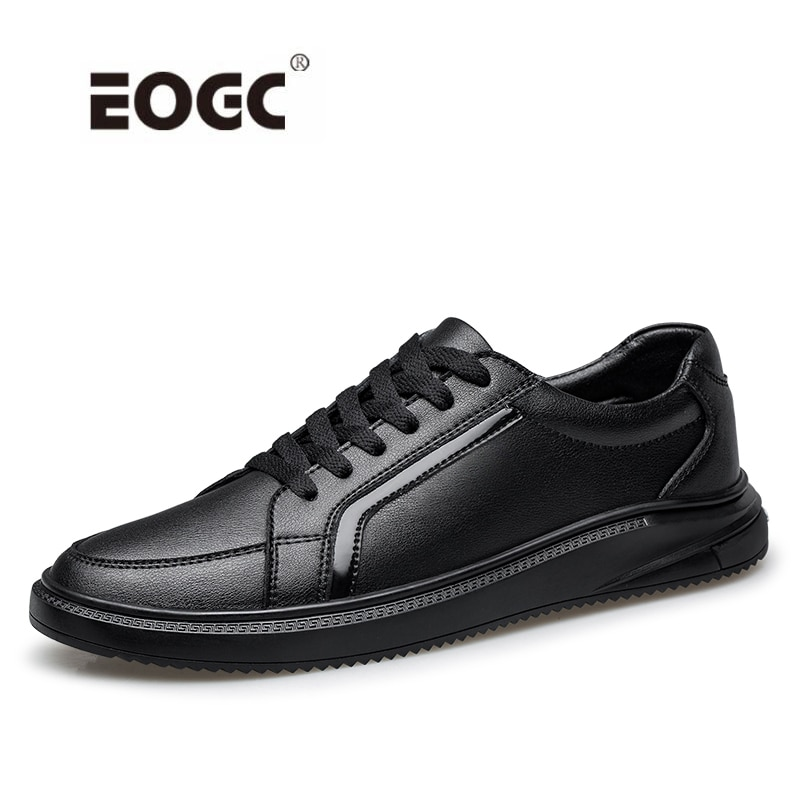 Genuine Leather Men Shoes Quality Lace-Up Casual Shoes Soft Autumn Flats Shoes Outdoor Walking Shoes Men Zapatos Hombre breathable outdoor shoes men breathable lace up casual shoes flats quality comfortable men shoes zapatos hombre