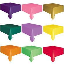 137x183cm tek kullanımlık plastik düz renk masa örtüsü parti Catering masa örtüsü tek kullanımlık düz renk plastik masa örtüsü