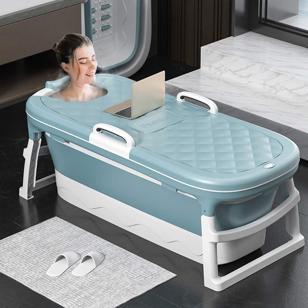 للطي الكبار حمام برميل إطالة 1.38 متر الكبار حمام الأطفال السباحة حوض استحمام بلاستيك سماكة حوض الاستحمام مع غطاء حوض الاستحمام
