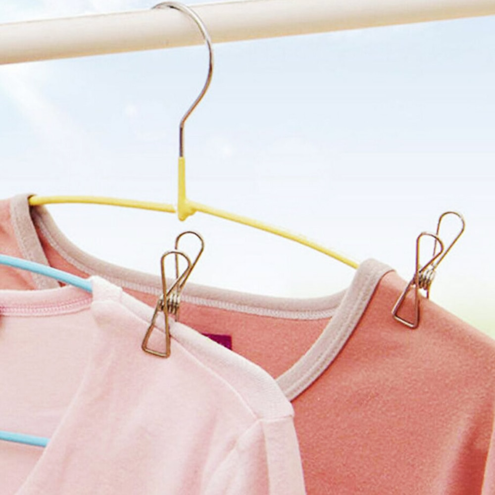 Stainless Steel Clothes Pegs Hanging Clips Pins Laundry Windproof Clamp Household Clothespin Holders Clothing Clamps 2
