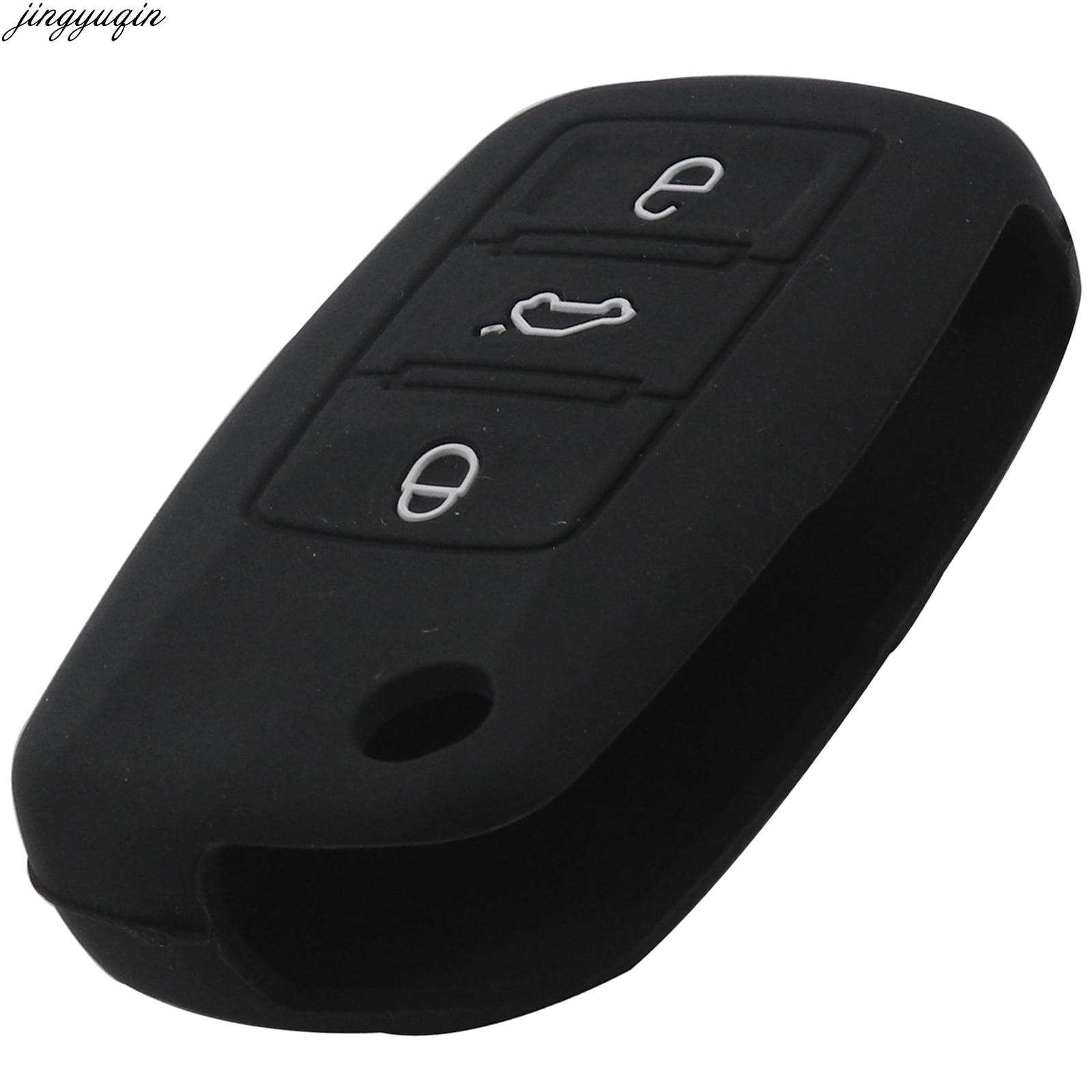 Estilo de coche remoto clave Fob Protector de la cubierta de la caja de silicona para Volksvogen VW Seat Altea Toledo León Cupra 3 botones