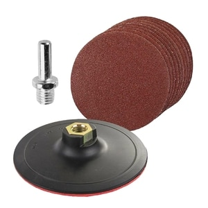 HOT-10-Piece Round Sanding Set with Padded and Drilled Adapter for Mixed Gravel Shackle 125Mm Sand Disc