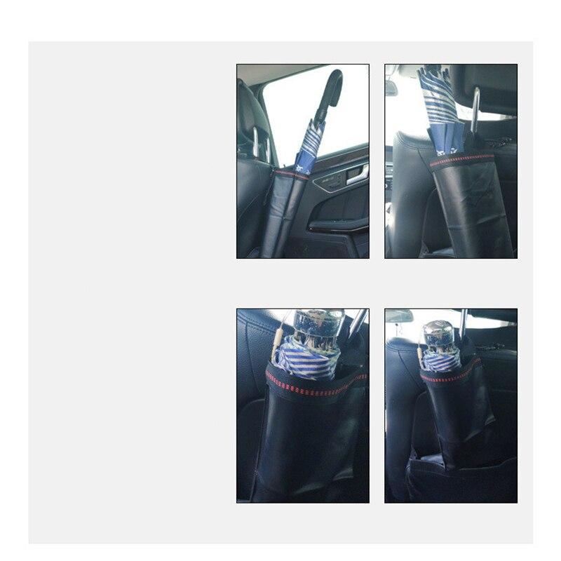 Bolsa de paraguas de coche impermeable plegable con mango largo o corto soporte de paraguas de coche organizador de maletero de automóvil para paraguas