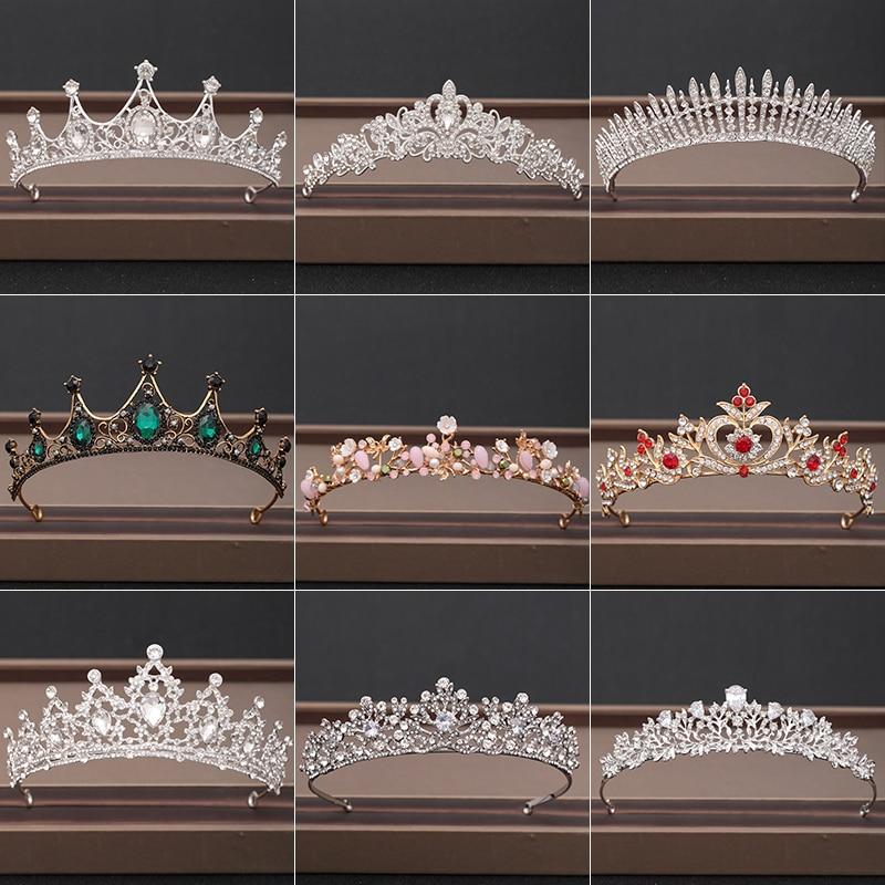 Wedding Crown Hair Jewelry Bridal Headpiece woman Baroque Rhinestones Crystal Tiaras Bride Party Cro