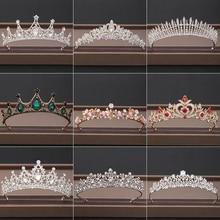 Mariage couronne cheveux bijoux mariée casque femme Baroque strass cristal diadèmes mariée fête couronnes mariage cheveux accessoires