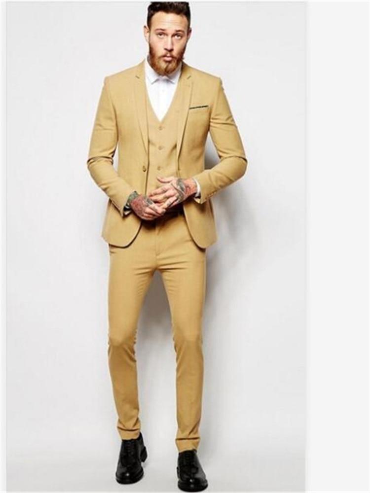 Smolking Noivo Terno-بدلة رجالية نحيفة ، مناسبة للسهرة ، مناسبة للزفاف ، أنيقة ، لحفلات التخرج ، أصفر ، مجموعة جديدة