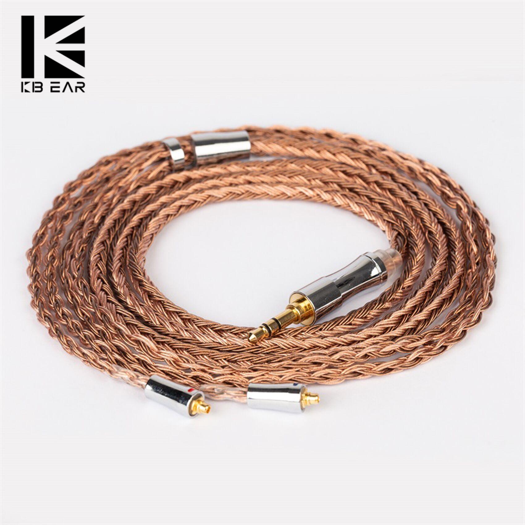 KBEAR تظهر-B 24 النواة 5N OFC ترقية كابل الصوت الدافئ حول آذان مع 120 سنتيمتر طول 3.5 مللي متر 2.5 مللي متر 4.4 مللي متر المكونات