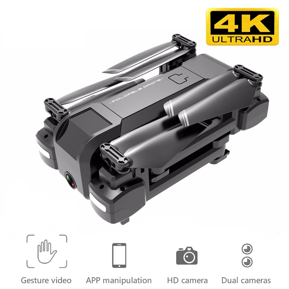 Newest KF607 Quadcopter with Wifi FPV 1080P 4K HD Dual Camera Optical Flow Selfie Drone Foldable Mini Dron VS SG106 visuo xs816