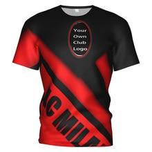 Nouveau Ac Milan 3d football T-shirt Ac Milan survêtement costume Ac sweat Milan football entraînement Kit T-shirt