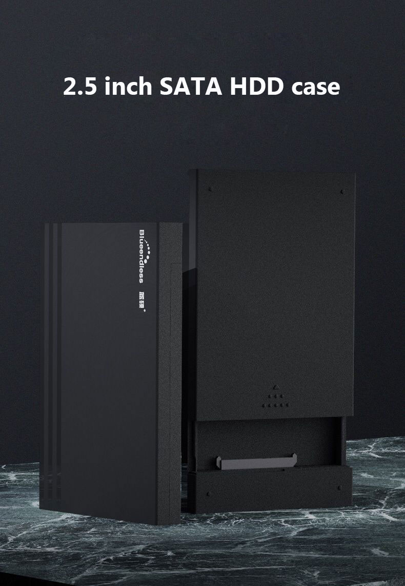 Blueendless HDD Case 2.5 SATA to USB 3.0 Hard Drive Enclosure for SSD Disk Tool free Type C 3.1 Case External Hard Drive
