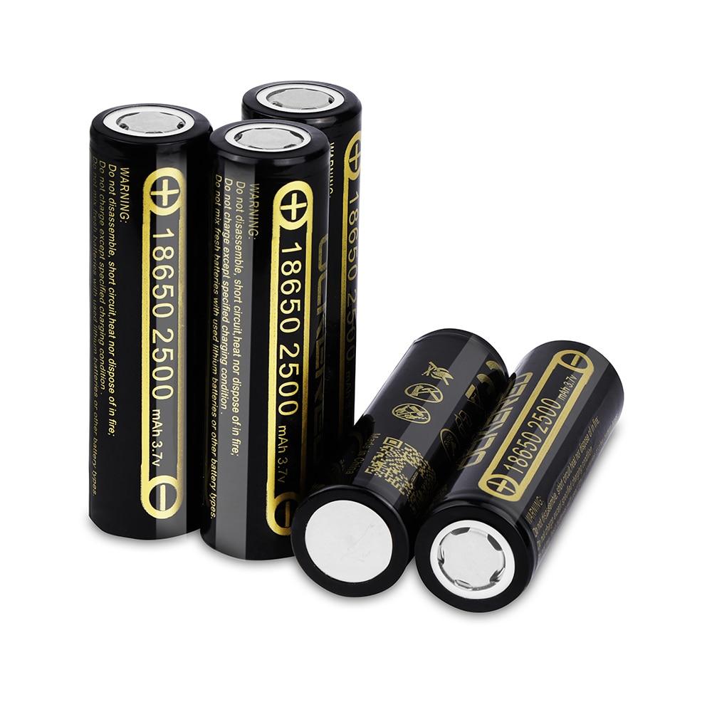 Литий-ионный аккумулятор 18650, 2500 мАч, 3,7 в