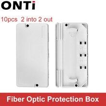 ONTi 10 pièces boîte de Protection de câble optique boîte de Protection de fibres optiques gaine thermorétractable pour protéger le plateau dépissure de fibres 2 en 2