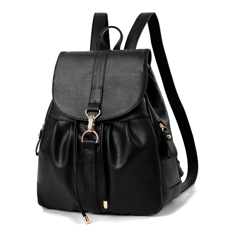 High Quality Women Pu Leather Backpacks Fashion Ladies Shoulder Bag New Casual School Bags for Teenage Girls Travel Laptop Bag