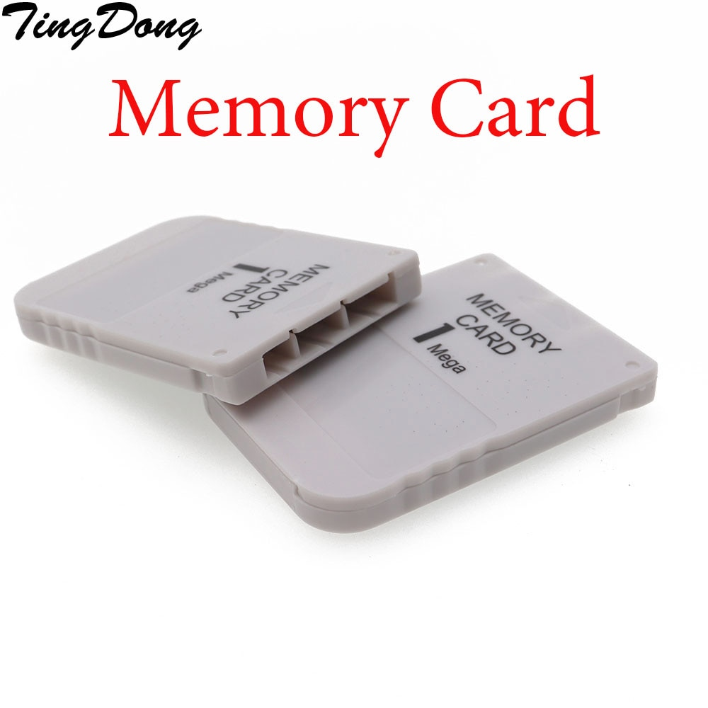 TingDong  5pcs a lot White 1MB 1M 1 mega Memory Save Saver Card for Sony Playstation PS1 PSX Game System