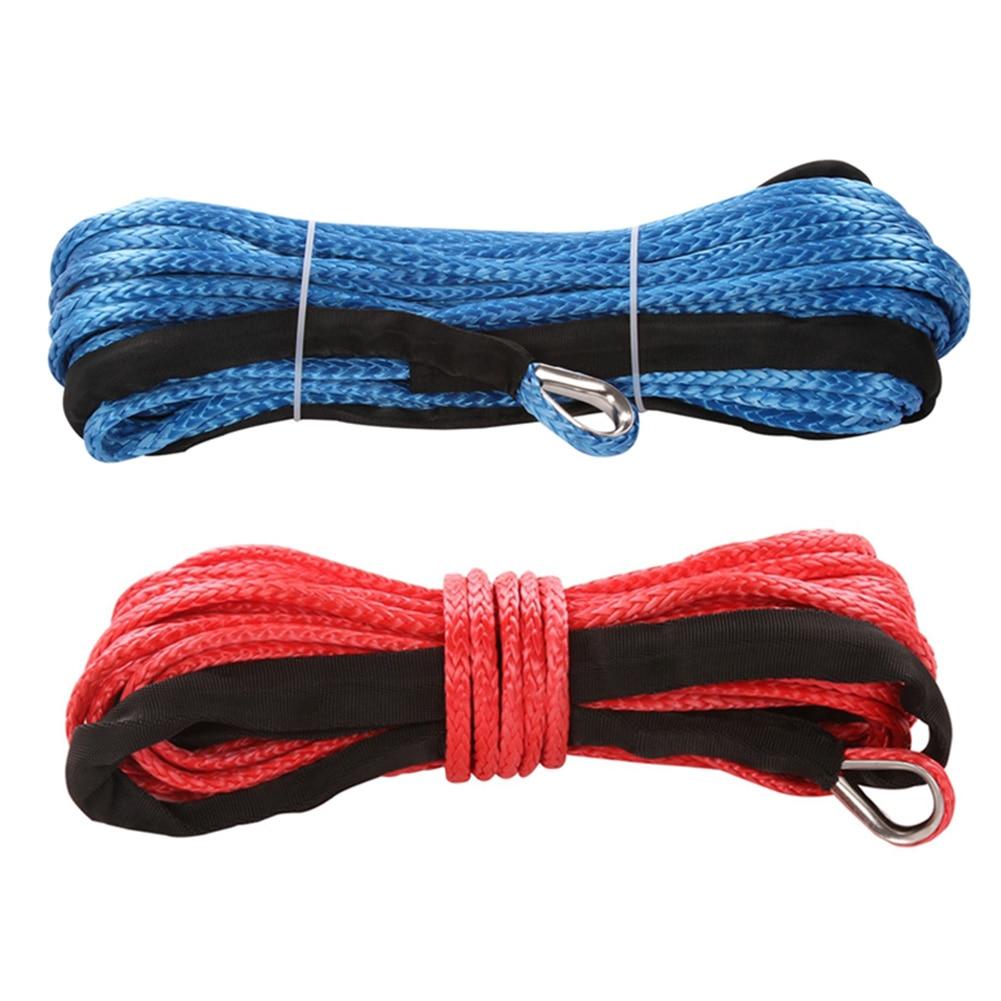 Cable de línea de cuerda para cabrestante, cuerda de remolque sintético gris...