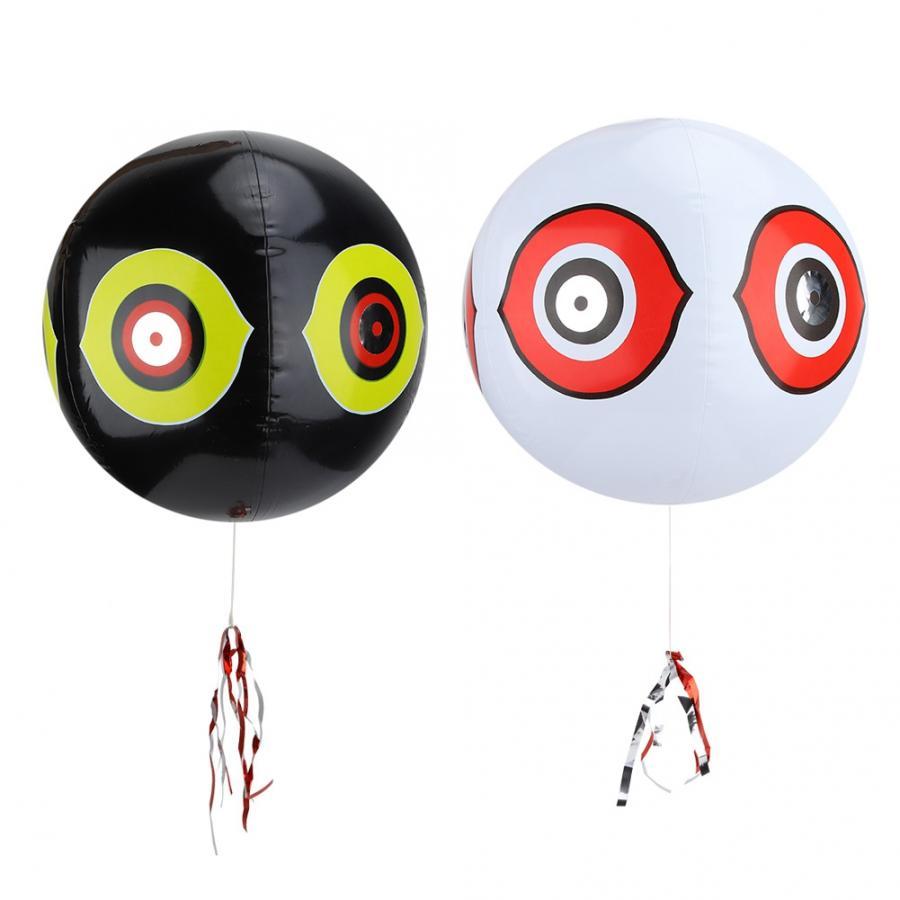 Repelente de plagas ultrasónico ojos de Terror inflable globo de miedo de pájaros repelente de aves ojos de depredador globo de caza repelente de aves