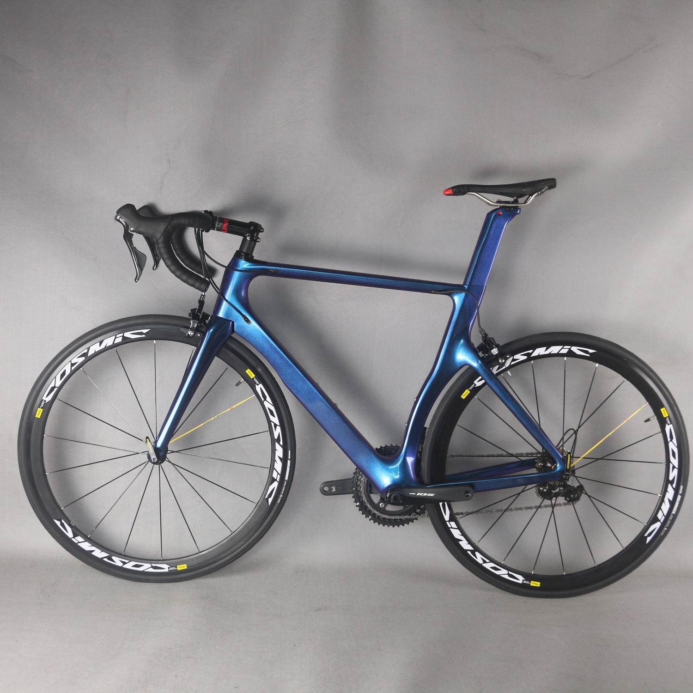دراجة طريق كربونية كاملة 2021TT-X2 ، لون الحرباء ، مع مجموعة shi R7000 22 سرعة ، لركوب الدراجات على الطرق