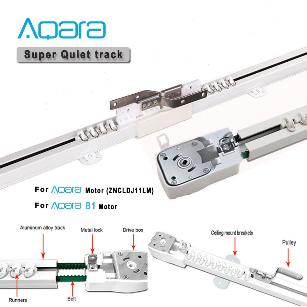 Aqara-مسار ستارة كهربائي ذكي ، نظام تحكم سكة ستارة كهربائية مخصصة ، محرك Aqara A1/B1 ، محرك xiaomi youping wifi