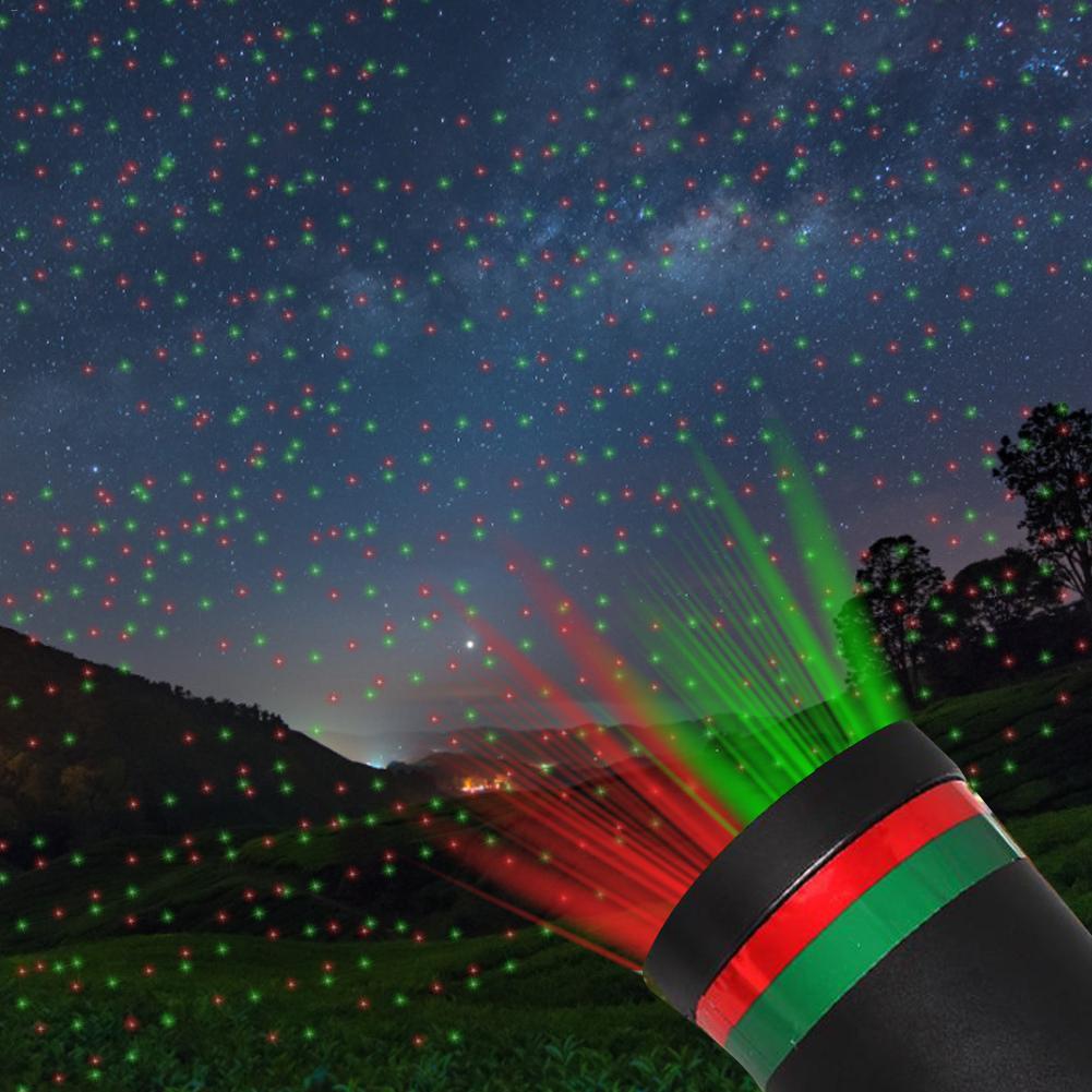 Al aire libre movimiento Full Sky Star Navidad Proyector láser escenario lámpara verde y rojo LED escenario luz exterior paisaje césped jardín luces