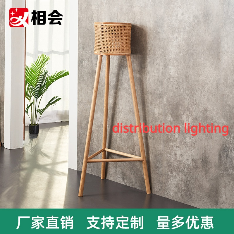Floor Large Pieces of Creative Modern Living Room Decoration Accessories Rattan Woven Triangle Bracket Lamp Holder Home Lighting factory outlet modern vintage crystal floor lamp light home lighting decoration made by polaris lighting