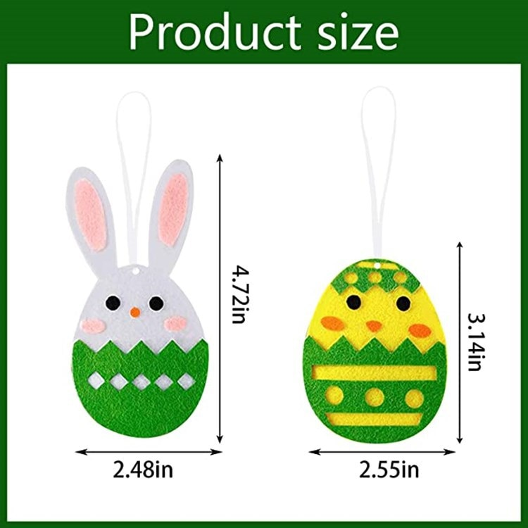 Easter Pendant Felt Egg Bunny Easter Felt Festive Party Decorations DIY Decoration Of Festival Atmosphere 1 Packet  - buy with discount