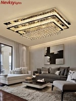luxury silver ceiling lamp living room modern crystal ceiling lights bedroom led ceiling lamps dining crystal fixtures kitchen