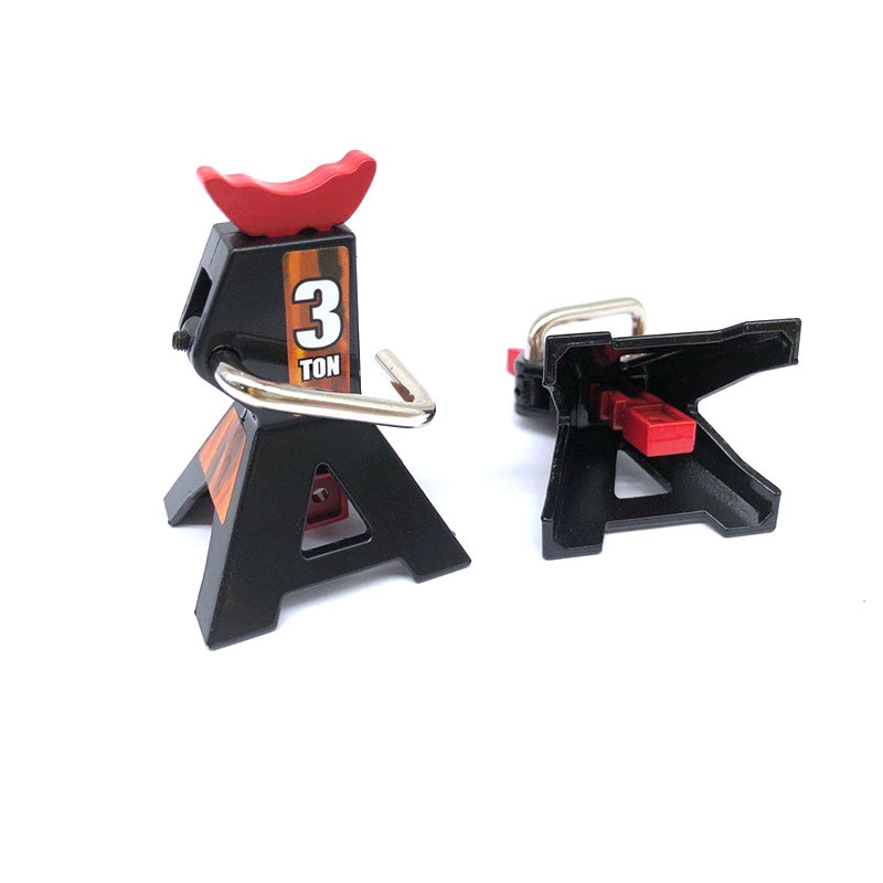 2pcs Metal 3 Ton Scale Jack Stands Height Adjustable Repairing Tool For 1/10 RC Crawler Truck Trx-4 Trx4 Axial SCX10 S321 enlarge