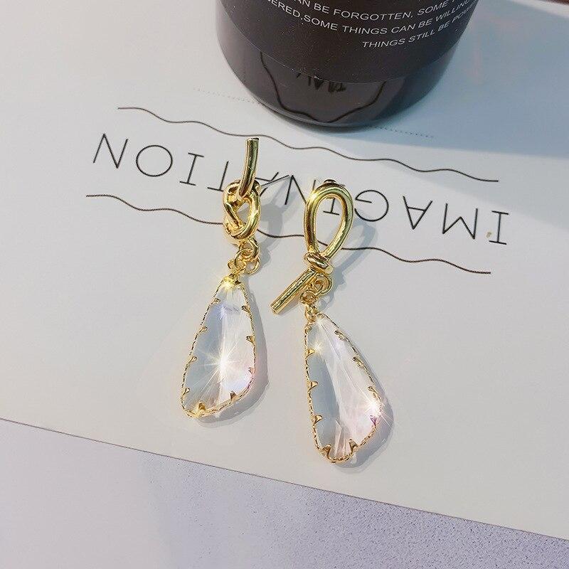 New Geometric Luxury Crystal Earring For Women Fashion Gold Ear Jewelry 2020