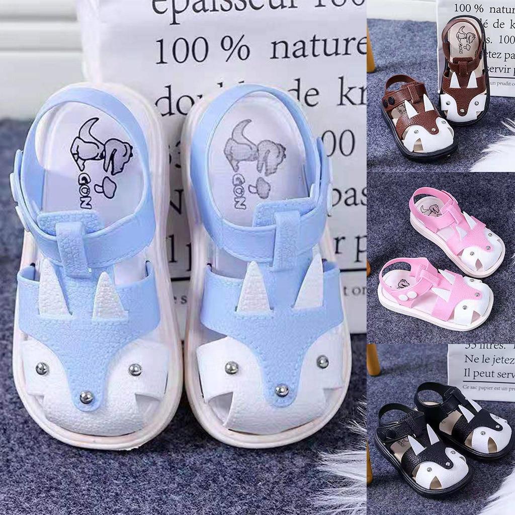 Sandalias de Punta cerrada para niños y niñas, zapatos de playa, zapatillas...