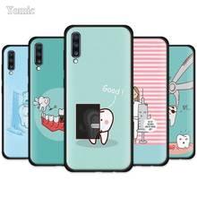 Cute Wisdom Teeth Dentist Tooth Case for Samsung Galaxy A50 A51 A70 A71 A10 A20 E A30 S A40 A80 A20e Black Silicone Phone Cover