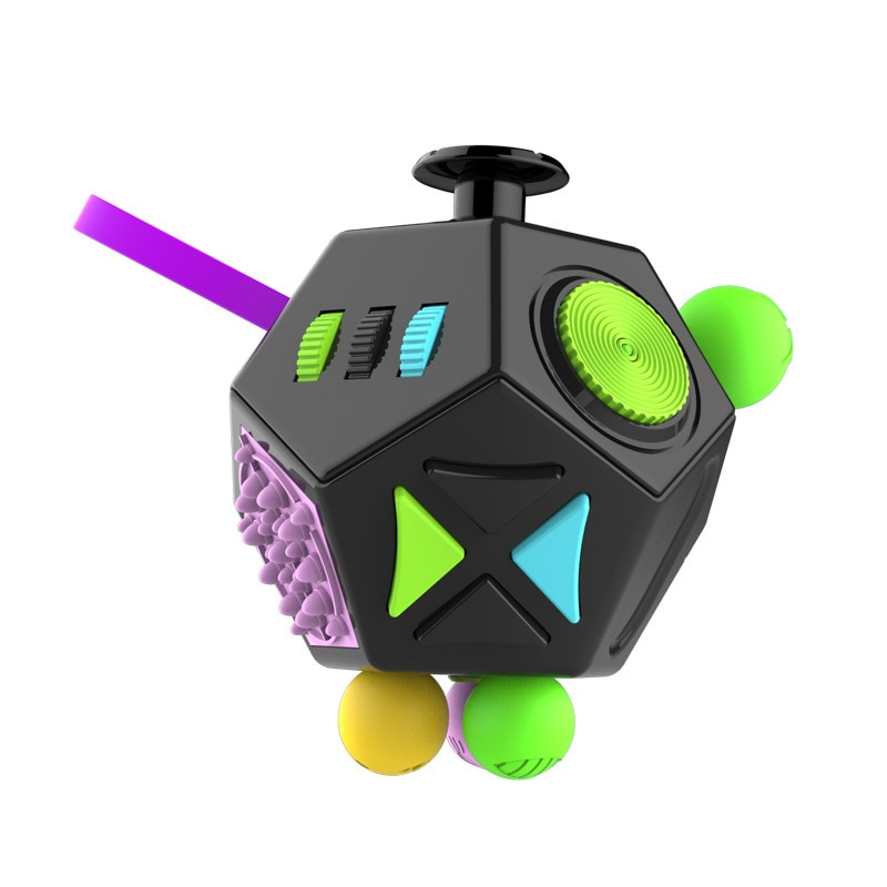 EDC Hand For Autism ADHD Anxiety Relief Focus Children 12 Sides Anti-Stress Magic Stress Fidget Toys