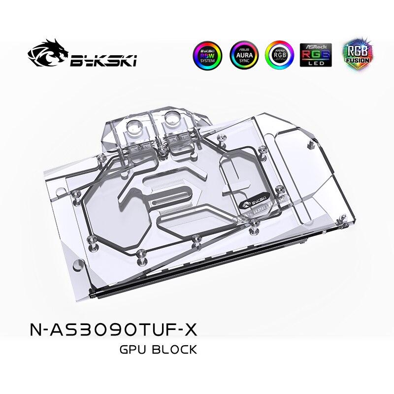 وحدة معالجة مركزية للالعاب من Bykski طراز رقم الموديل RTX 3090 O24G للألعاب/TUF RTX3080 O10G بطاقة وحدة معالجة الرسومات للالعاب/كتلة نحاسية/لوحة خلفية RGB AURA
