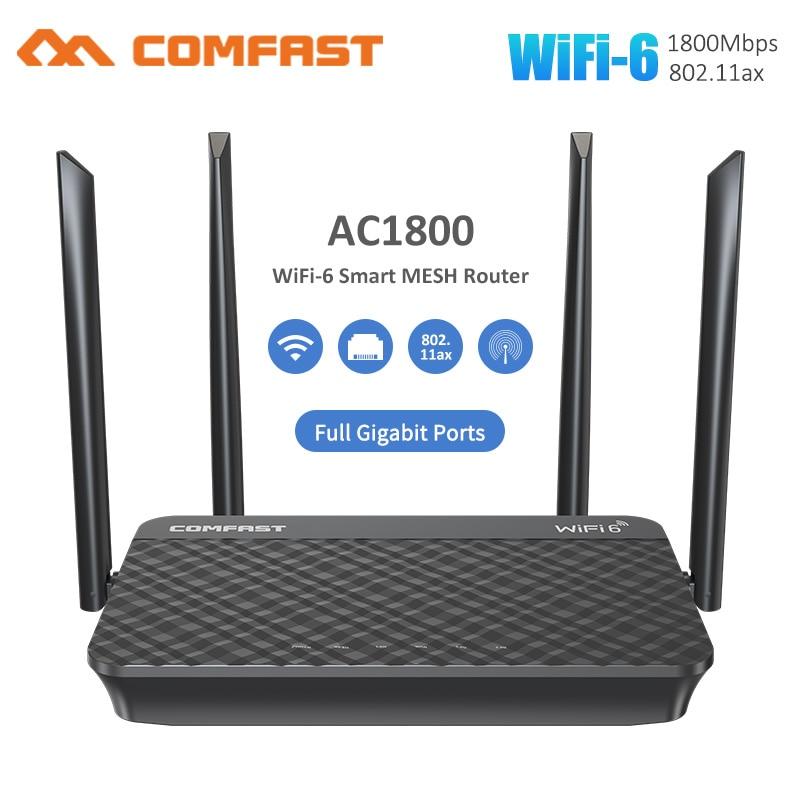 wifi 6 malha gigabit 24g 50ghz rj45 wan lan malha inteligente dupla faixa roteador