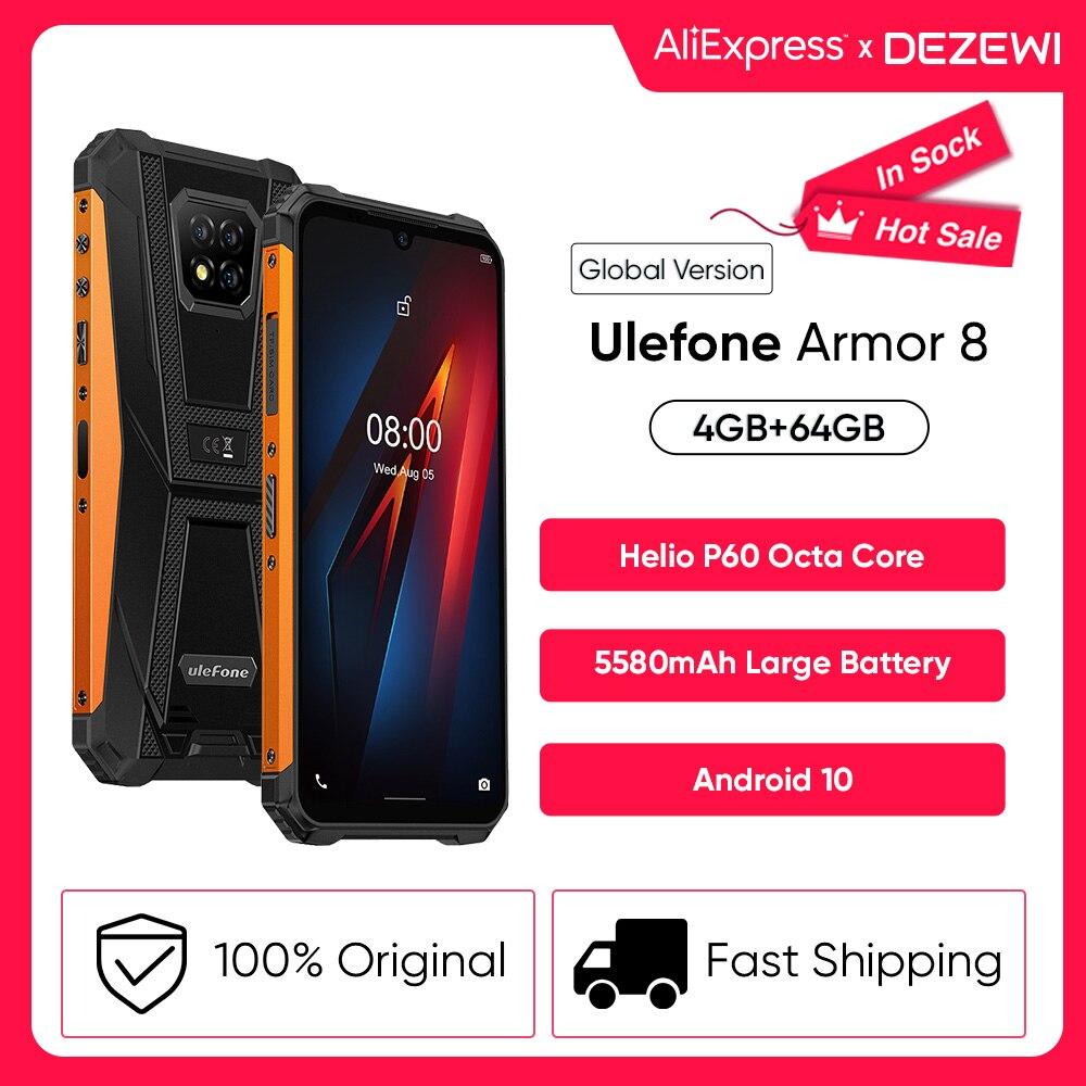 Перейти на Алиэкспресс и купить Ulefone Power Android 8, 10 5580 мА/ч, большая Батарея прочный мобильный телефон NFC Helio P60 Octa Core 4 Гб + 64 Гб телефон Водонепроницаемый смартфон