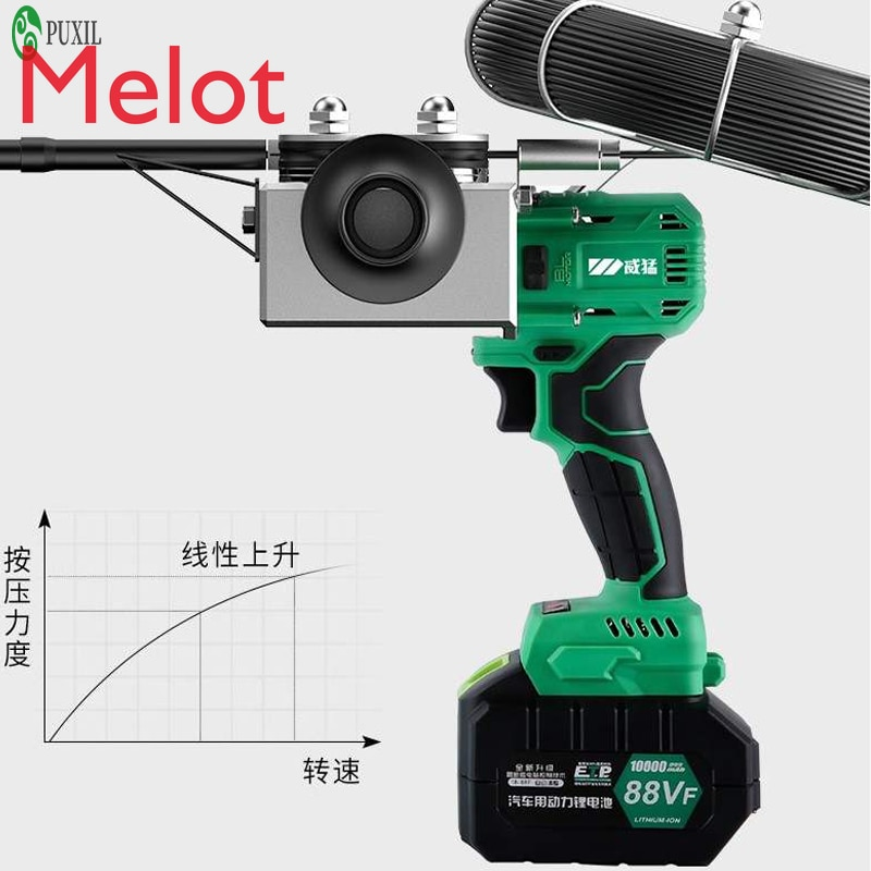 New CX-8006 88VF 10000MAN electrician fully automatic wall threading machine electric charging cable threading machine 40m / min enlarge