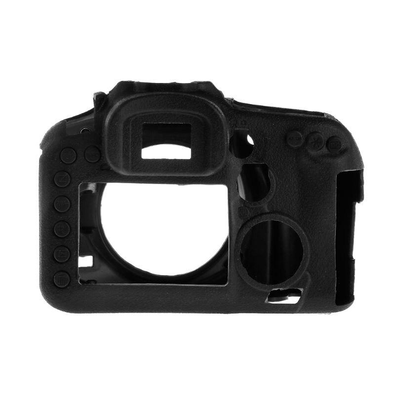 غطاء كاميرا الغلاف الواقي سيليكون انفصال صدمات حماية لكانون EOS 7D مارك II LX9A