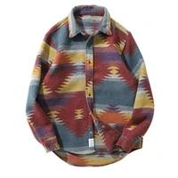 v hanver hip hop tie dye snap button long sleeve shirts men fashion casual streetwear dress shirt coats male hipster shirts tops
