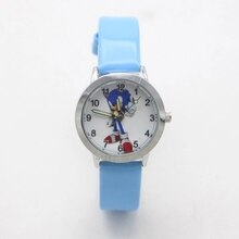 New Arrival High Quality Children Fashion Sonic Cartoon Wristwatch For Boys Girls Gifts Simple Stude