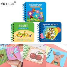 Animal motif Hexapod bricolage bricolage diamant peinture   Puzzle pour enfant manuel, livre dimages, broderie diamant, artisanat cadeau pour enfants