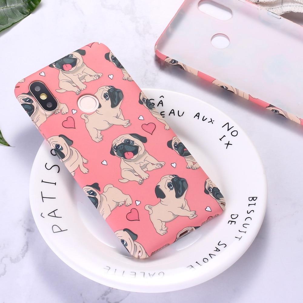 Для Xiaomi mi Red mi A2 A3 Note 5 6 7 8 9 lite Pro смешной Французский бульдог щенок мультфильм тиснение Жесткий PC чехол для телефона Funda Coque