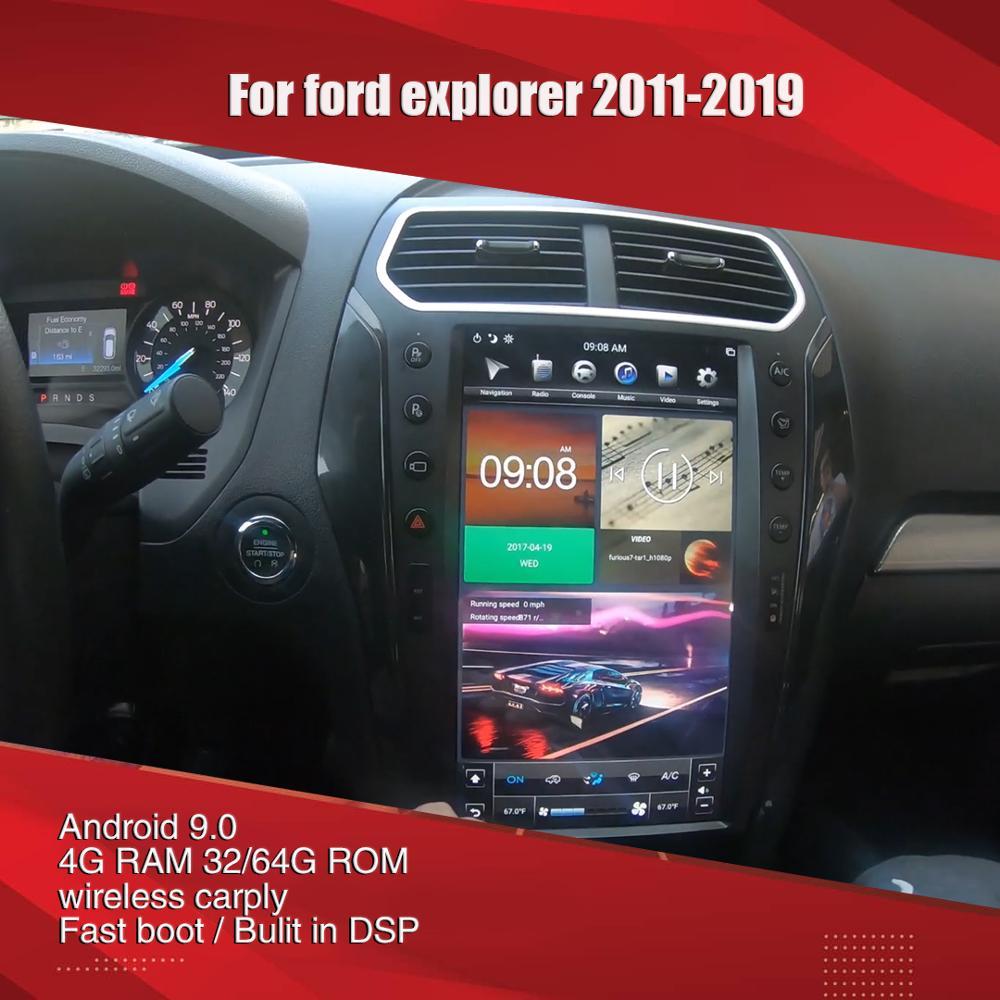 Aucar Tesla 13,6 pulgadas para ford Explorer multimedia Android Radio del coche...