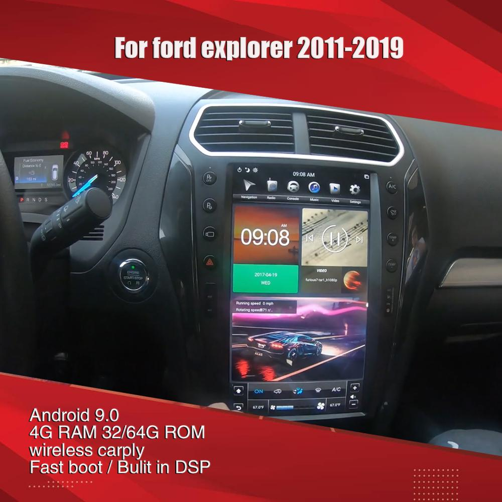 Aucar-راديو السيارة متعدد الوسائط تسلا ، 13.6 بوصة ، نظام تحديد المواقع العالمي للملاحة ، ستيريو ، لفورد إكسبلورر ، أندرويد ، 2011-2019