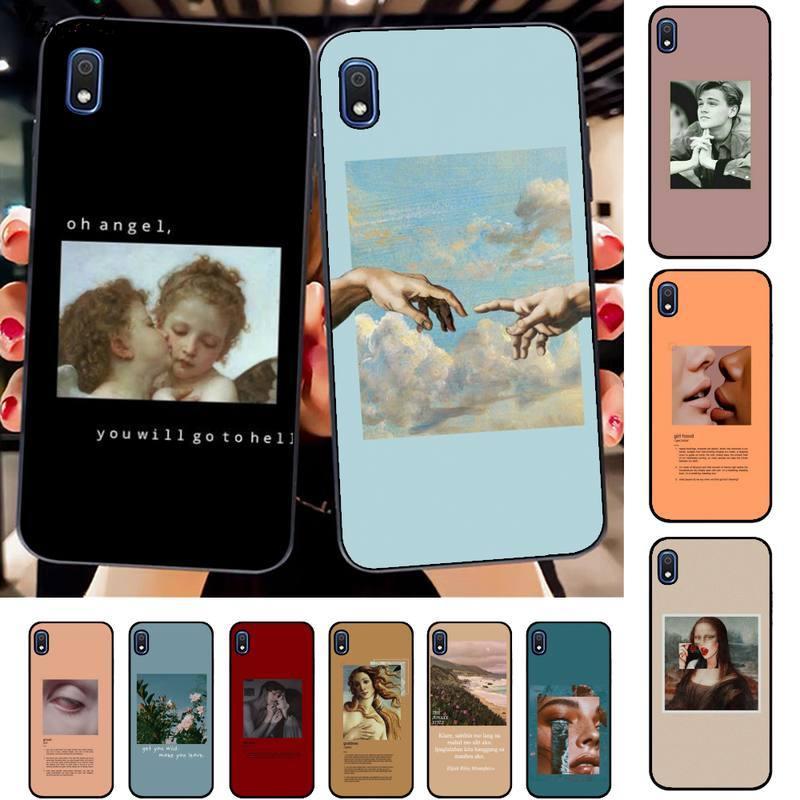 Große kunst ästhetischen van Gogh Mona Lisa Engel Telefon Fall für Samsung A10 20s 71 51 10 s 20 30 40 50 70 80 91 A30s 11 31 21