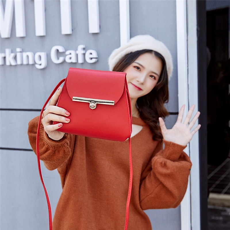 2021 женская сумка на плечо, Корейская сумка-мессенджер, кожаная женская сумка-мессенджер через плечо, женская сумка