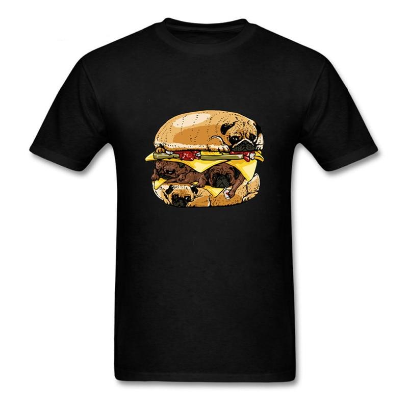 XXXL Pugs hamburguesa camiseta hombres Pugs stack camisetas camiseta mujer manga larga anime animal impreso camiseta hamburguesa Tops rey camisetas