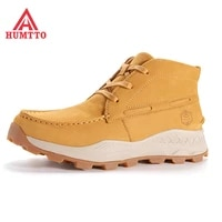 humtto brand new genuine leather hiking boots for men winter outdoor sports breathable lace up trekking climbing mens shoes