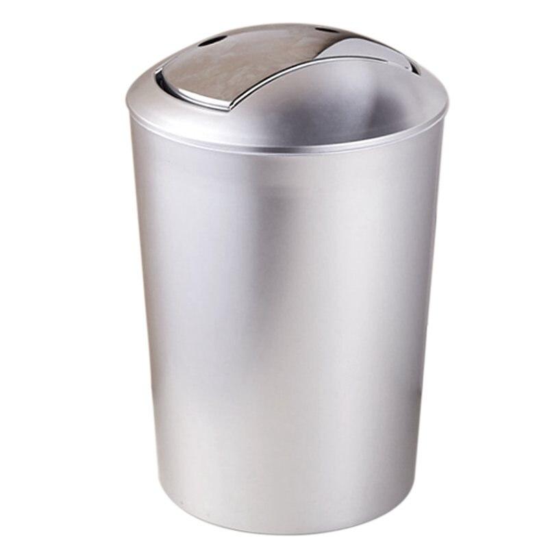 Cubo de basura para baño de 6,5 L, cubo de basura de estilo europeo con tapa, cubo de basura de cocina, herramientas de almacenamiento, recipiente de residuos