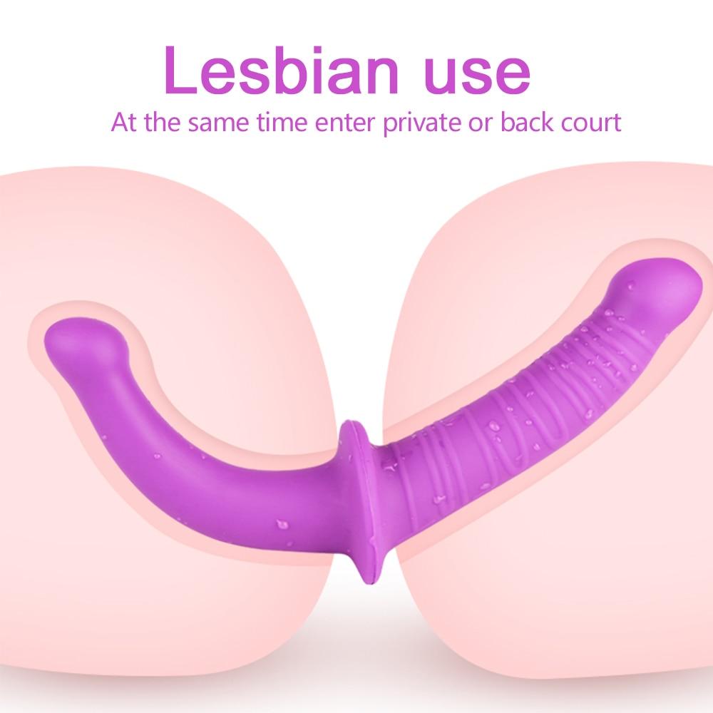 Double Head Dildos Sex Real Penis Masturbator for Woman Sex Toys for Lesbian Dildo G Spot Vaginal Prostate Stimulator Anal Plug